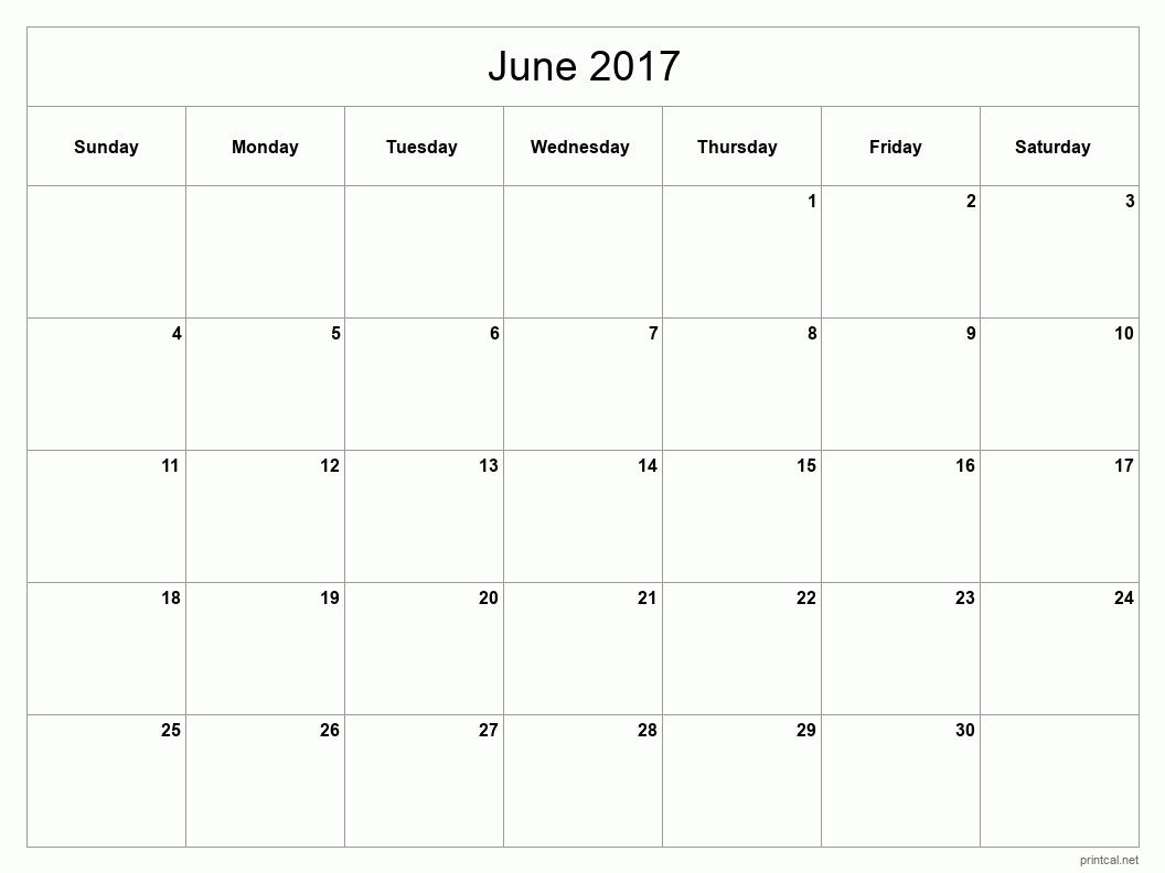 printable 2015 june calendar