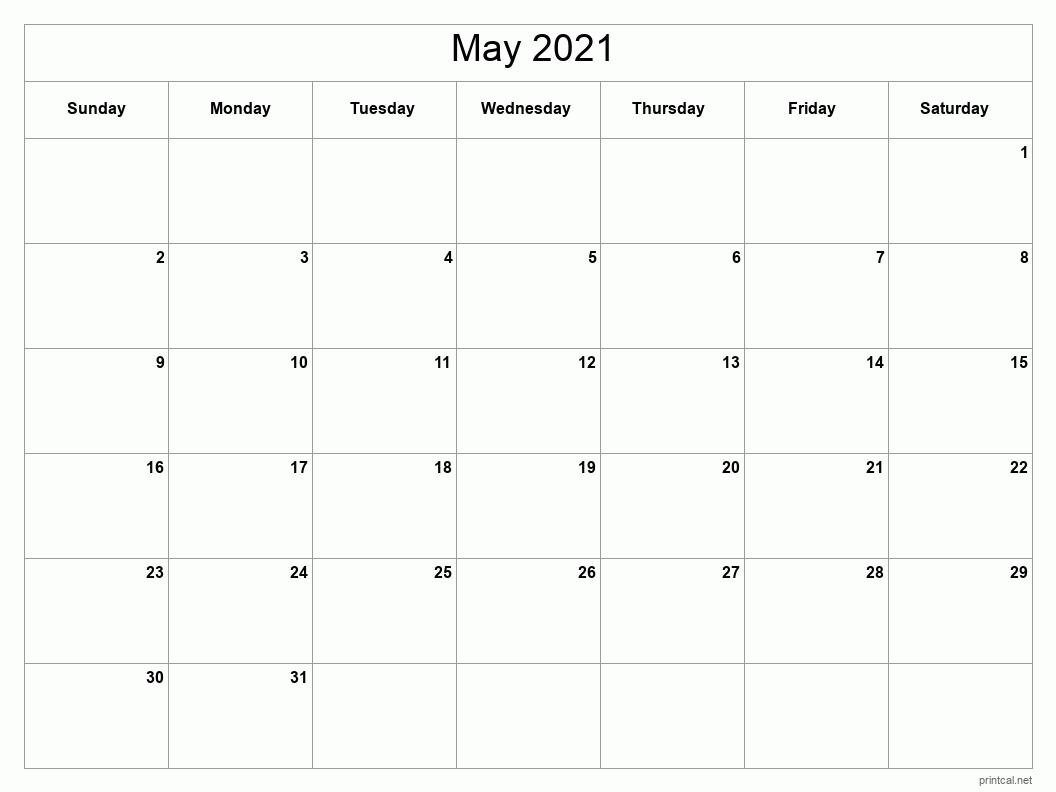 Printable May 2021 Calendar | Free Printable Calendars