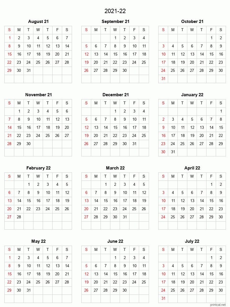 Academic Calendar 2022.Printable 2021 22 Split Year Academic Calendar