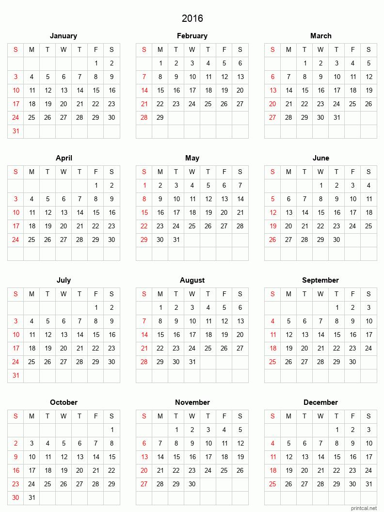 printable calendar grid