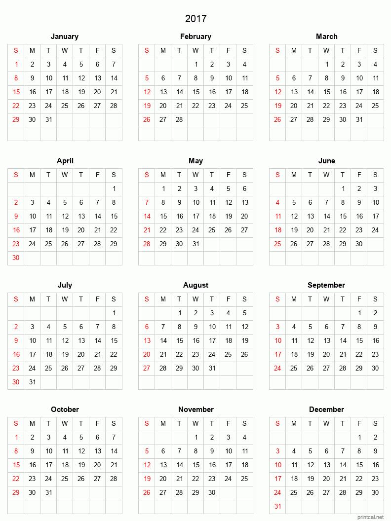 PrintCal.net - Free Printable Calendars Online